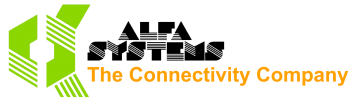 Alfa Systems The Connectity Company logo
